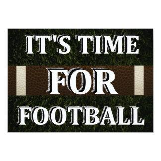 É hora para o convite do futebol
