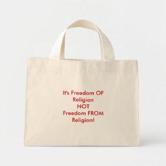 É liberdade de ReligionNOTFreedom da religião! Bolsa Tote Mini