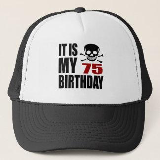 É meu 75 designs do aniversário boné