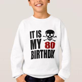 É meu 80 designs do aniversário agasalho