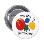 É meu aniversário!  Botão Pins