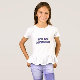É meu aniversário - camisa do plissado da menina