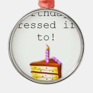 É meu aniversário ornamento para arvore de natal