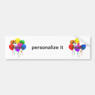 É meu autocolante no vidro traseiro dos balões do  adesivo para carro
