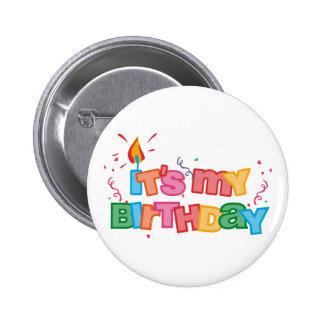 É meu botão das letras do aniversário pins