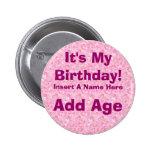 É meu botão do aniversário do aniversário botons