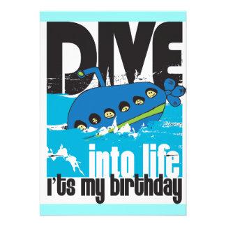 É meu convite do submarino do aniversário