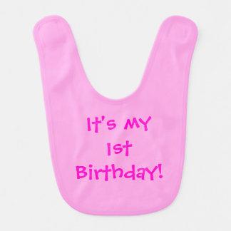 É meu primeiro aniversario! Babador customizável