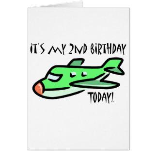 É meu segundo aniversário hoje cartão comemorativo