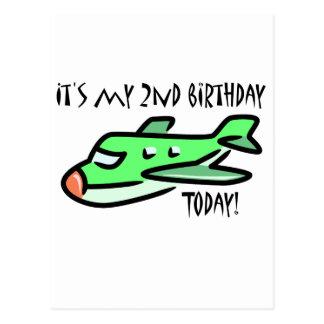 É meu segundo aniversário hoje cartão postal