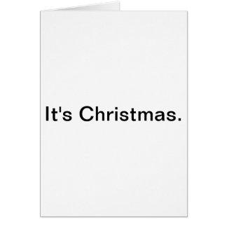 É Natal. Cartão
