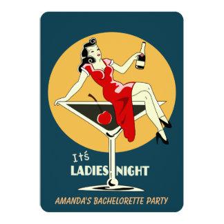 É noite das senhoras convite 12.7 x 17.78cm