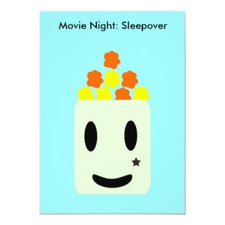 É noite de cinema toda a noite: Sleepover Convite 12.7 X 17.78cm