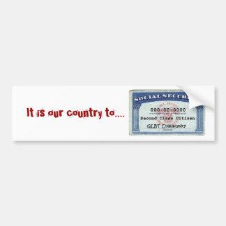 É nosso país a adesivo para carro