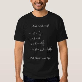 E o deus disse [as equações do maxwell] t-shirt (p