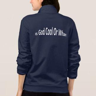 É o deus legal ou que (a jaqueta das mulheres)