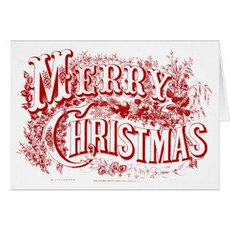 e o Feliz Natal anula cartões de nota