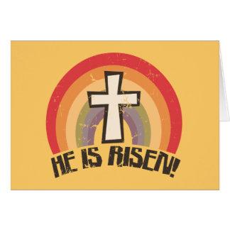 É páscoa religiosa aumentada cartão comemorativo