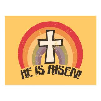 É páscoa religiosa aumentada cartão postal