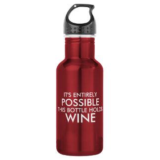 É perfeitamente possível esta garrafa guardara o