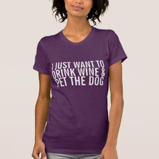 E Pet o T do cão Tshirt