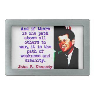 E se há um trajeto - John Kennedy