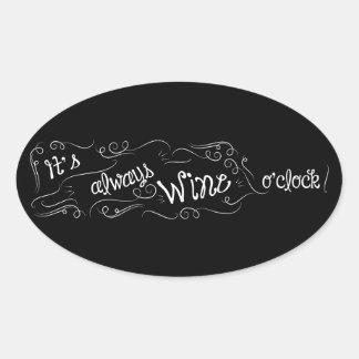 É sempre etiqueta da hora do vinho