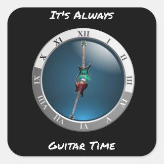 É sempre etiqueta do relógio de ponto da guitarra