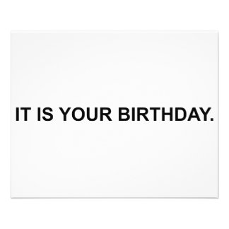 É seu aniversário flyer 11.43 x 14.22cm