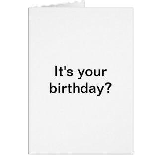 É seu aniversário? Mim Gusta. Cartão de