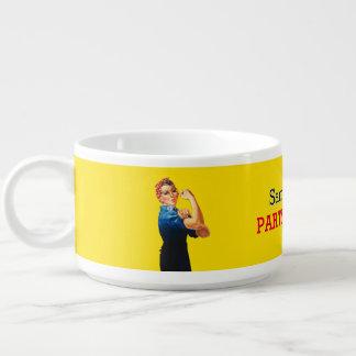 É seu costume Rosie que o partido personaliza este Tigela De Sopa