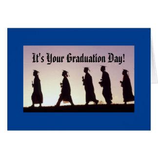 É seu dia de graduação! cartão comemorativo