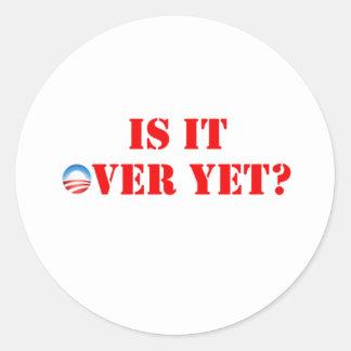 É sobre contudo Anti-Obama Adesivo Redondo