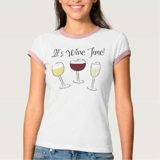 É tempo do vinho camiseta