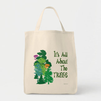 É toda sobre o bolsa verde do slogan das árvores