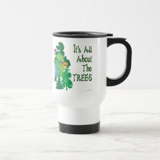 É toda sobre o slogan verde das árvores caneca térmica