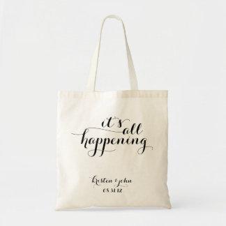 É todas as sacolas de acontecimento do casamento sacola tote budget