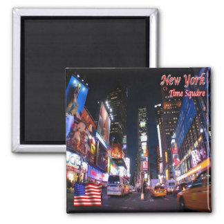 E.U. EUA - Nova Iorque - quadrado do tempo em a Ímã Quadrado