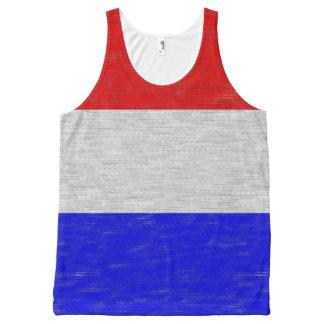 E.U. vermelhos/brancos/azuis colorem unisex Regata Com Estampa Completa