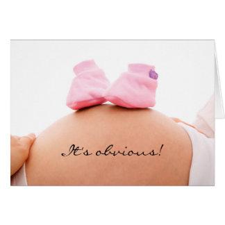 É um anúncio do bebê da menina & um convite do chá