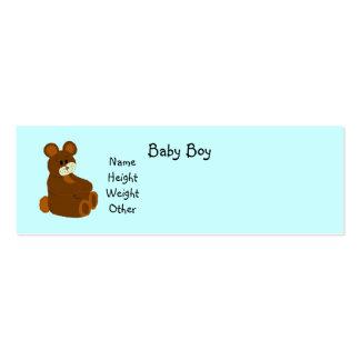 É um anúncio do bebê do menino cartão de visita skinny