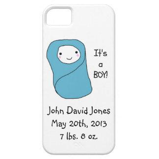 É um anúncio novo do nascimento do bebê do menino capa barely there para iPhone 5