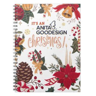 É um caderno do Natal de Anita Goodesign!