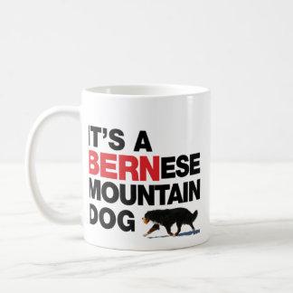 É um cão de BERNese Mtn, não uma caneca PRETA de