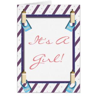 É um cartão da menina