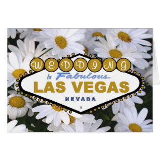 É um cartão de casamento de Las Vegas da margarida