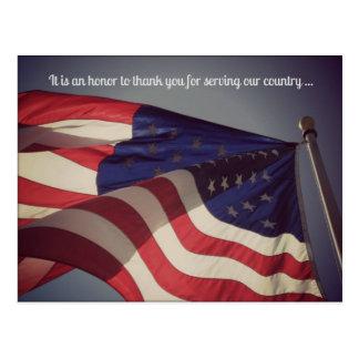 É um cartão do dia de veteranos da honra…
