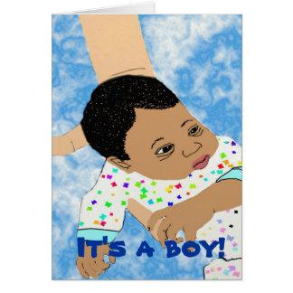 É um cartão do menino