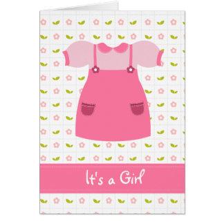 É um cartão recém-nascido da menina