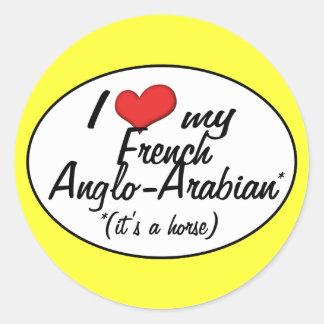 É um cavalo! Eu amo meu Anglo-Árabe francês Adesivo Em Formato Redondo